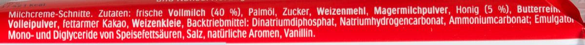 Milch-Schnitte - Ингредиенты