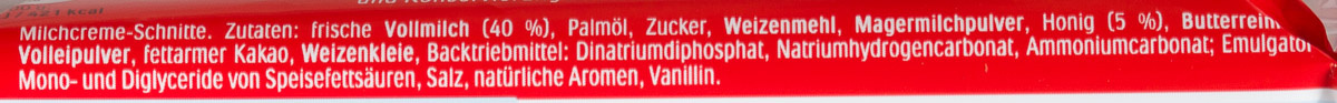 Milch-Schnitte - Ingredienti - de
