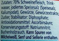 Bockwurst in zarter Eigenhaut - Ingrédients