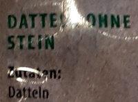 Datteln Sayer - ohne Stein - Inhaltsstoffe - de