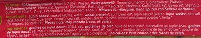 Lupinen Geschnetzeltes, Herzhaft - Ingrediënten - fr