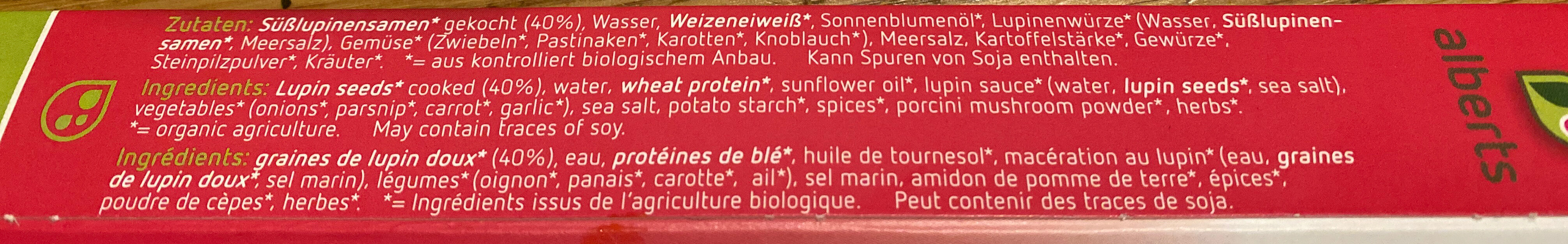 Filet De Lupin - Ingredients - en