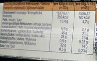 Eiweiß 32% Cookies & Cream - Nährwertangaben
