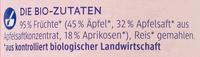 Aprikose in Apfel - Ingrédients - de