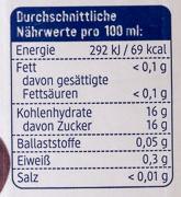 Trauben Saft naturtrüb - Voedingswaarden