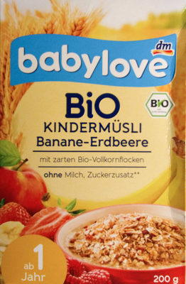Bio Kindermüsli Banane-Erdbeere - Produkt