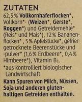 Bio Kindermüsli Banane-Erdbeere - Inhaltsstoffe