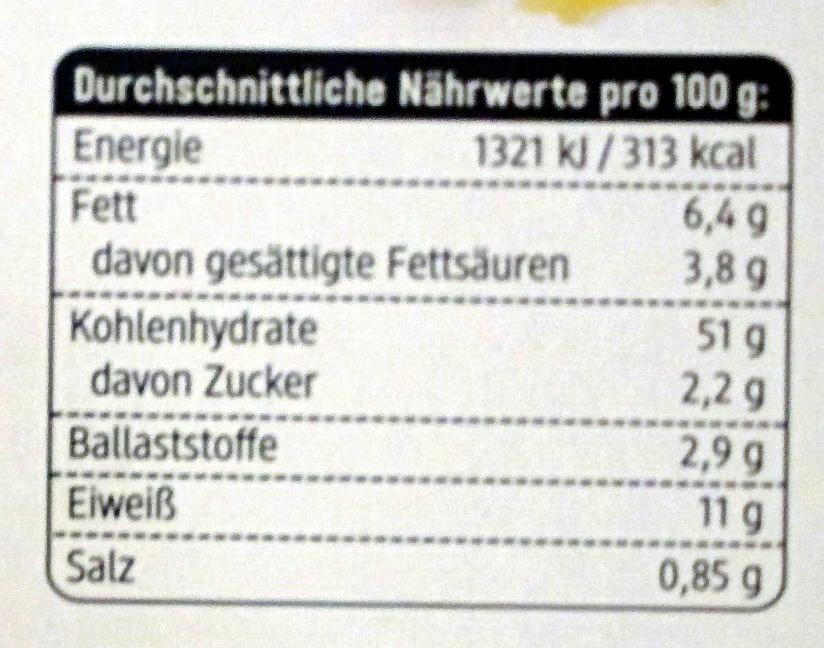 Tortellini Käse - Nutrition facts - de