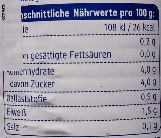 DM Bio Tomaten Natur - Nutrition facts - sr
