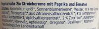 Streichcreme Toskana - Ingredients