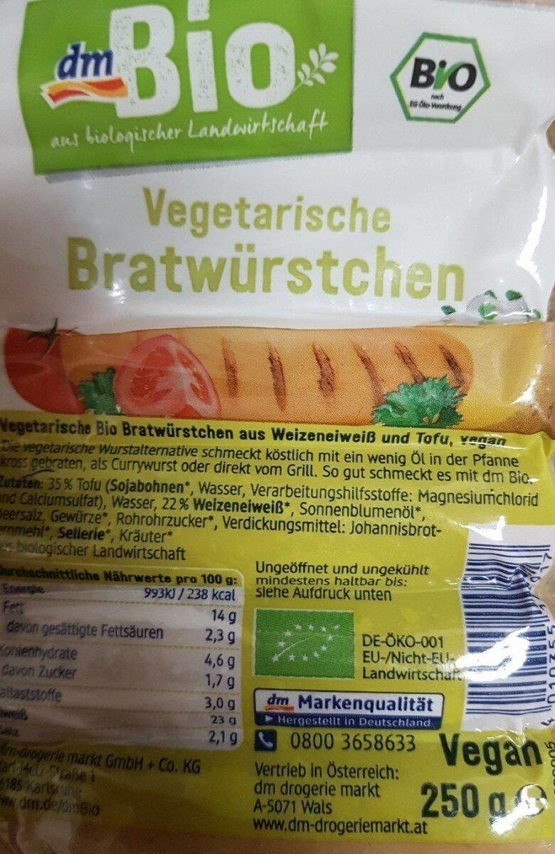 Bio Vegetarische Bratwürstchen - Prodotto - fr