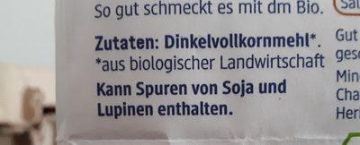 Dinkel Vollkorn Mehl - Ingrédients - fr