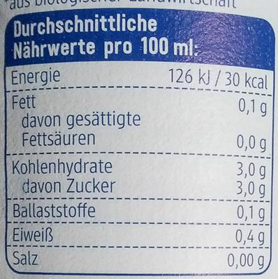 Zitronensaft - Informations nutritionnelles - de