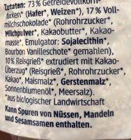 Schoko Müsli ohne Rosinen - Zutaten - de