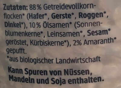 Bio Basis Müsli - Ingrediënten - de