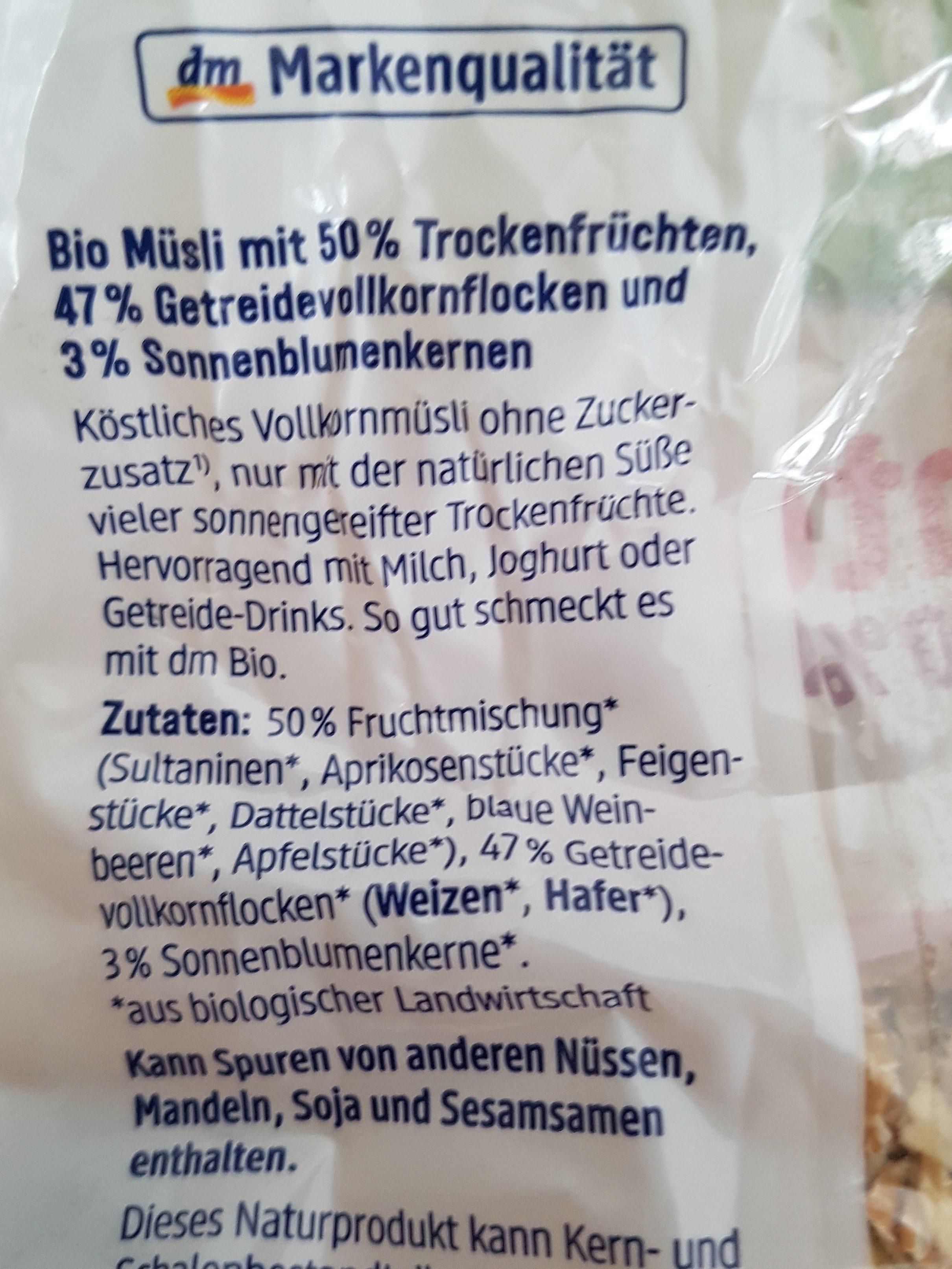 Früchte Müsli - Ingredients