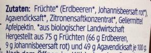 Erdbeere Mit Johannisbeere Fruchtaufstrich - Ingrédients - de