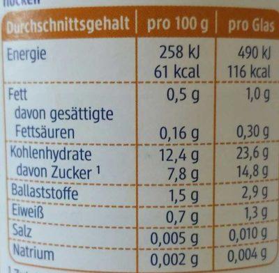 Apfel-mango Mit Reisflocken , Ab Dem 8. Monat - Informations nutritionnelles - de