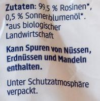 Rosinen - Ingredients - de