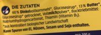 Bio Dinkel-Butter-Kekse - Ingredients