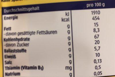 Bio Dinkel-Butter-Kekse - Nutrition facts