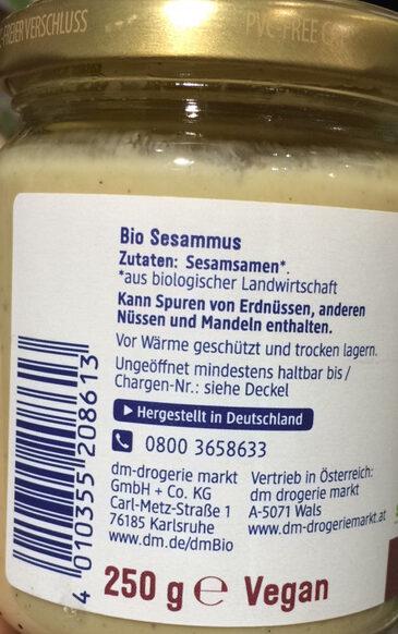 Tahin Sesammus - Ingrédients - de