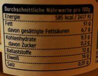 Tahin Sesammus - Informations nutritionnelles - de