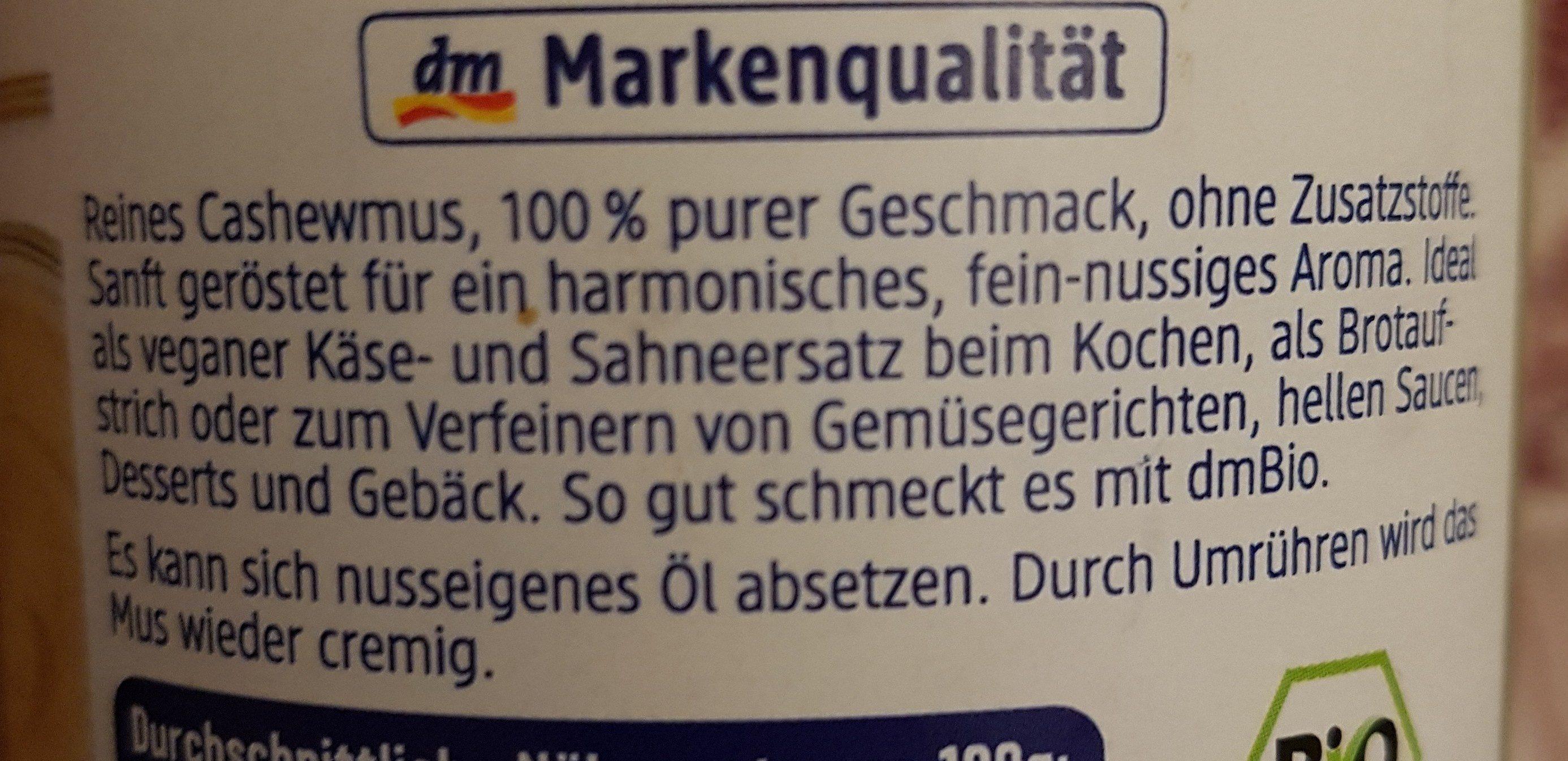 Cashewmus - Ingredients