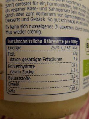 Cashewmus - Informations nutritionnelles - fr