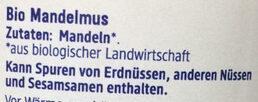 Mandelmus braun - Ingredients