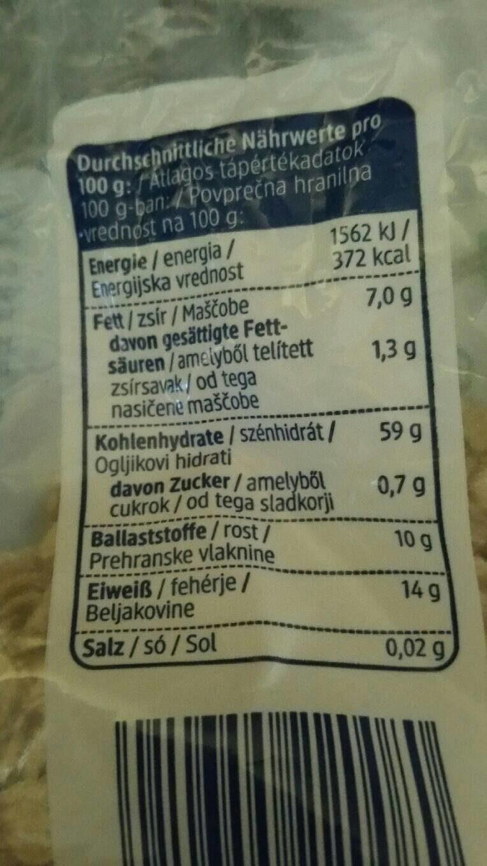 Haferflocken Großblatt - Nutrition facts