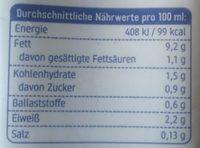 Soja Creme Cuisine - Voedingswaarden - de