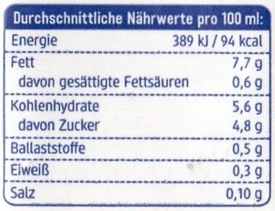 Hafer Creme Cuisine - Voedingswaarden - de