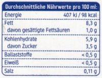 Reis Creme Cuisine - Informations nutritionnelles
