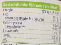Softie fruchtiger Smoothie - Informations nutritionnelles