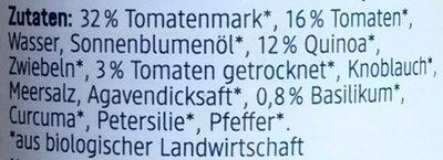 Tomate + Quinoa Aufstrich - Ingrédients