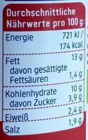 Tomate + Quinoa Aufstrich - Informations nutritionnelles