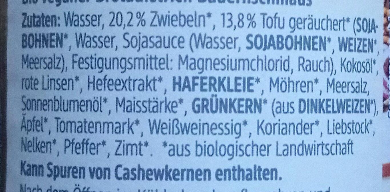 Veganer Bauernschmaus - Ingredients - de