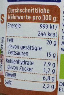 Veganer Bauernschmaus - Nutrition facts - de