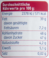 Nuss-Nougat - Nutrition facts