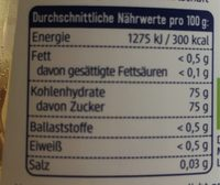 Agaven Dicksaft - Nutrition facts