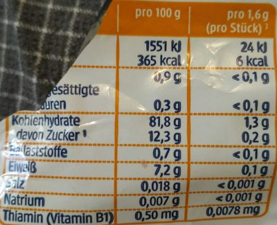 Himbeer Reiswaffeln, glutenfrei - Nutrition facts