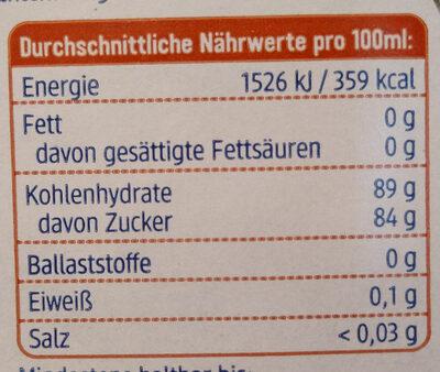Ahornsirup Grad C - Nutrition facts - de