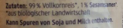 Bio Reiswaffeln, Natur - Ingredienti - de