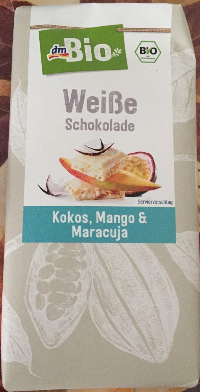 Weiße Schokolade Kokos, Mango & Maracuja - Product