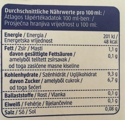 Reis Drink Natur - Informations nutritionnelles