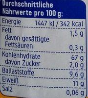 Bulgur - Nutrition facts - sr
