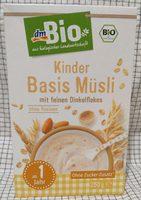 Kinder Basis Müsli mit feinen Dinkelflakes - Product