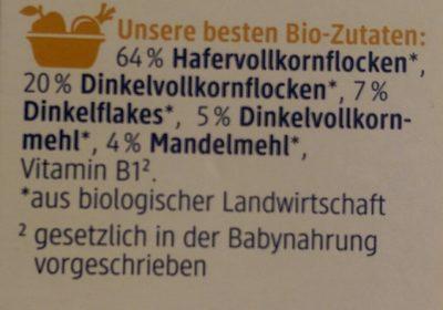 Kinder Basis Müsli mit feinen Dinkelflakes - Ingredients