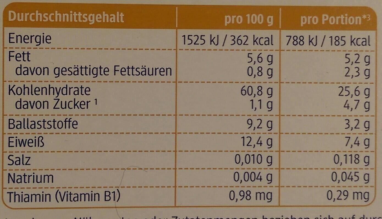 Kinder Basis Müsli mit feinen Dinkelflakes - Nutrition facts